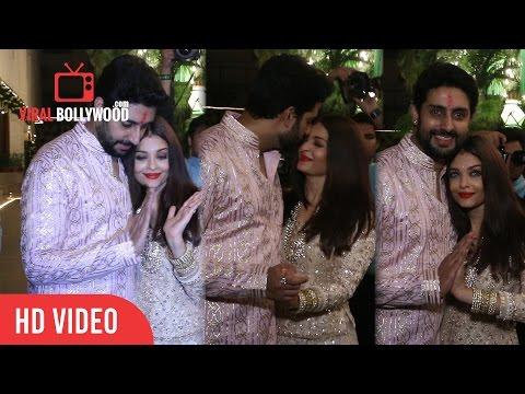 Aishwarya Rai and Abhishek Bachchan   Bachchan Family Diwali Party