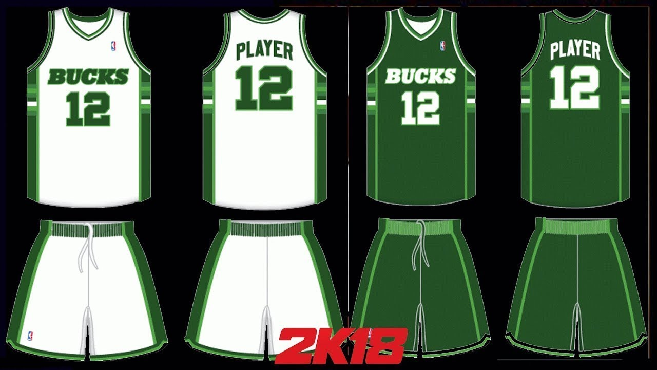 NBA 2K18 1986 - 1993 Milwaukee Bucks Home   Away - YouTube b814192b3