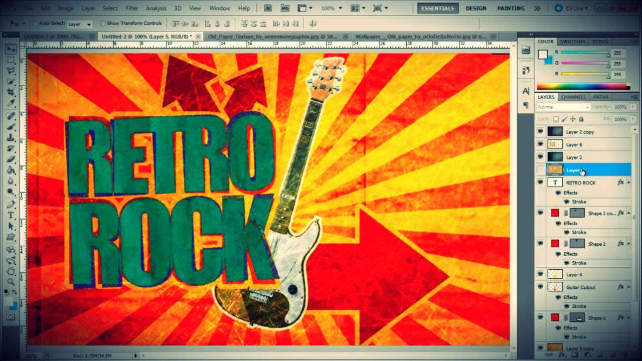 Foto Poster Erstellen How To Create A Vintage Poster In Photoshop - Youtube