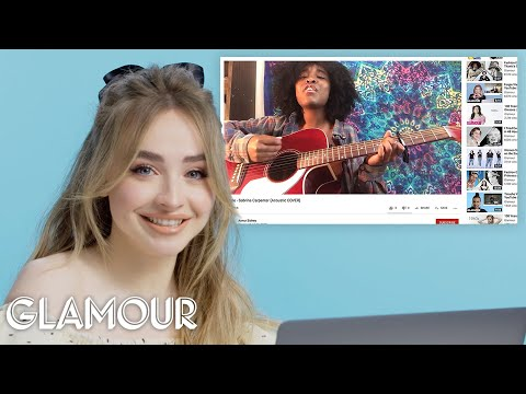 Sabrina Carpenter Watches Fan Covers On YouTube | Glamour