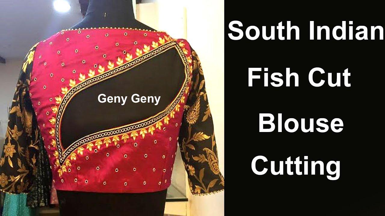192f08aade9f4b Fish Cut Back Neck Blouse Cutting Design | How Cut Fish Cut Blouse Cutting  In Hindi