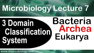 Microbiology lecture 7 | 3 domain classification system | Archea, bacteria and eukarya