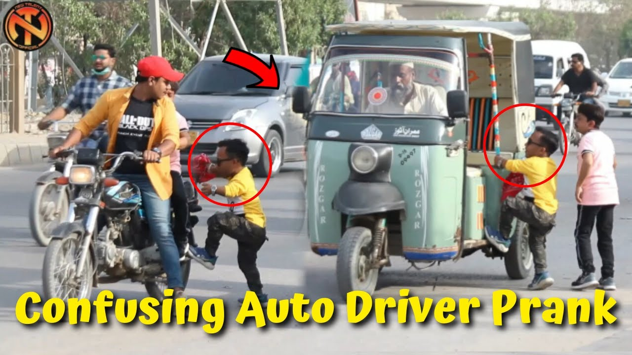 Confusing Auto Driver Prank  - Funny Pranks in Pakistan | New Talent