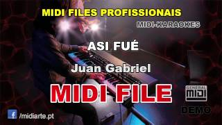 ♬ Midi file  - ASI FUÉ - Juan Gabriel