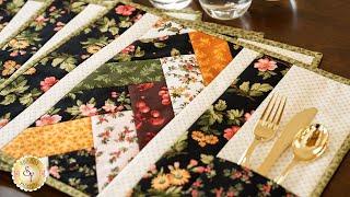 Quilt As You Go Venice Placemats   A Shabby Fabrics Tutorial