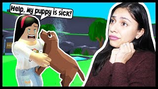 I GOT A NEW PUPPY... BUT SHES REALLY SICK! - Roblox - Vet Simulator