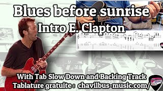 Blues before sunrise - Blues intro with tab#8