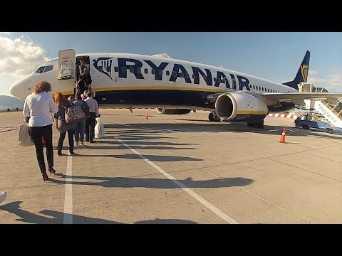RYANAIR Boeing 737-800 Full Flight ATH-RHO | GoPro Engine/Aegean View | ATH Boarding, RHO Landing
