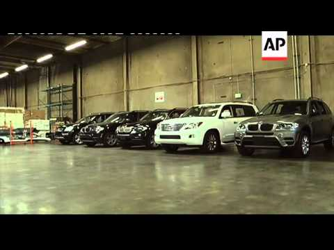 Customs officers seize 16 stolen luxury cars believed bound for Asia