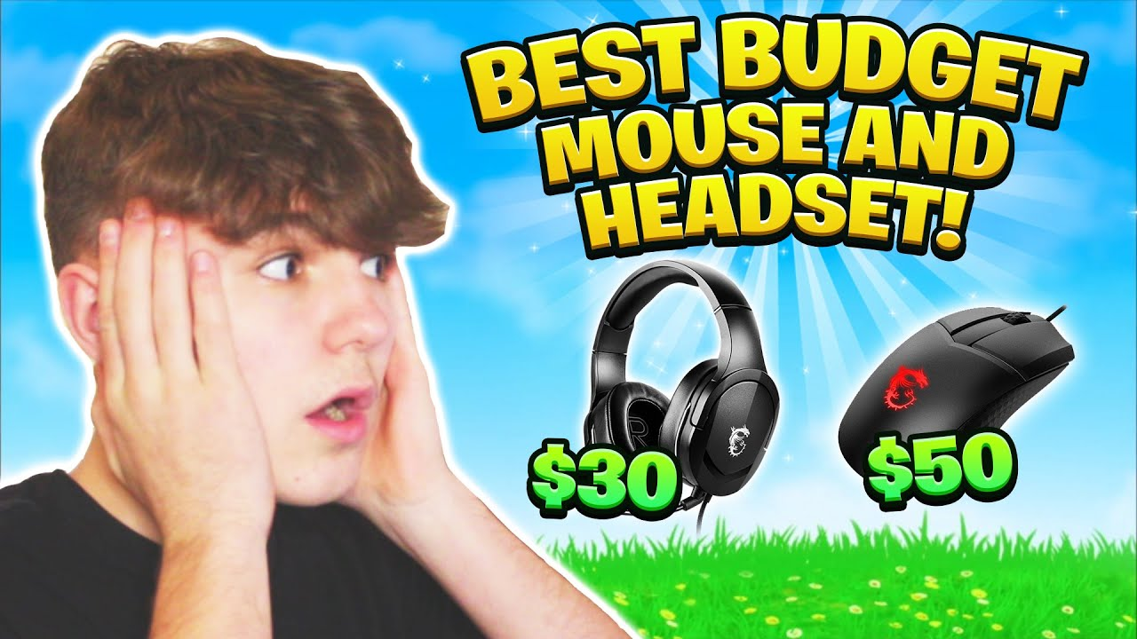 Download The *BEST* BUDGET Gaming Headset and Mouse in 2021 - MSI GM41 MOUSE AND GH20 HEADSET!!