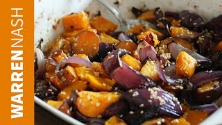 Butternut Squash, Sweet Potato & Red Onion Side - Recipes By Warren Nash