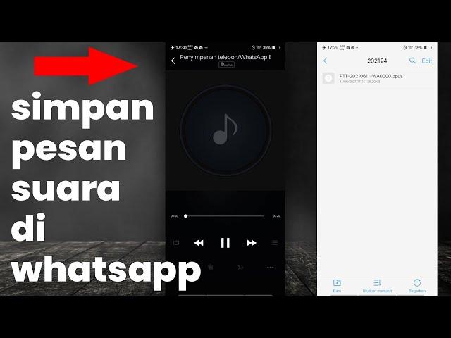 Cara Menyimpan Pesan Suara Audio (Voice Note) Di WhatsApp