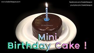 My Mini Birthday Cake Recipe Yummy  AND Cute