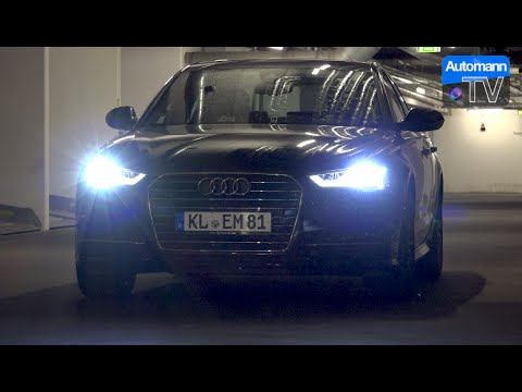 2017 Audi A6 4g Facelift Full Led Headlights 1080p