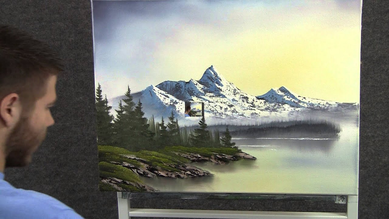 Paint With Kevin Hill Sunrise In The Mountains Wet On
