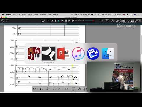 PreSonus - Using Notion & Studio One Together