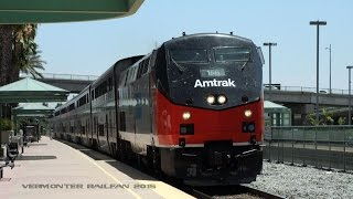 [HD] Railfanning Burbank, CA 2015 featuring Amtrak 156 and UP freights