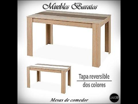 Mesas de comedor modernas: mesas salón con tapa reversible