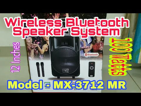 Mx trolley speaker system Unboxing | Model MX 3712 MR |12inches 100Watts|Wireless Bluetooth Speakers