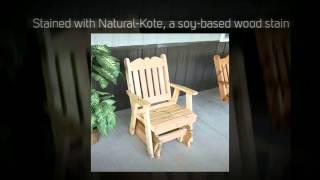 Al Furniture Co. Royal English Red Cedar Gliding Chair - 655