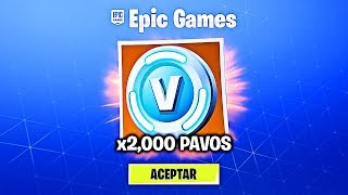FORTNITE REGALA 2000 PAVOS FREE (BANEADO)