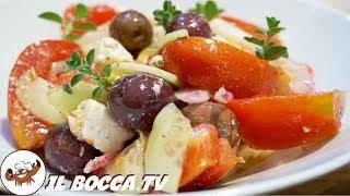 605 - Insalata greca...noi di certo non si spreca! (insalatona estiva Horiatiki con feta e pomodori)