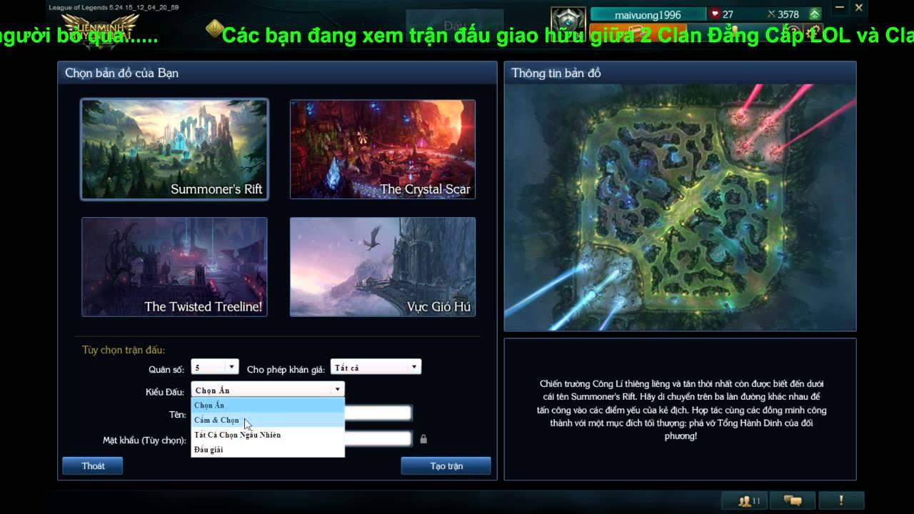 Trực tiếp Stream game Liên Minh Huyền Thoại Room ID 8338334(Alo Alo) của Vũ  Tiến