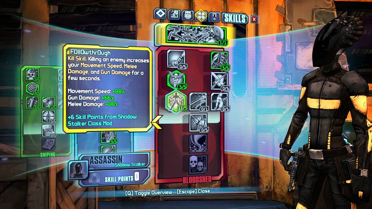 Borderlands 2 OP8 Assassin Build: Gunslinger Zero