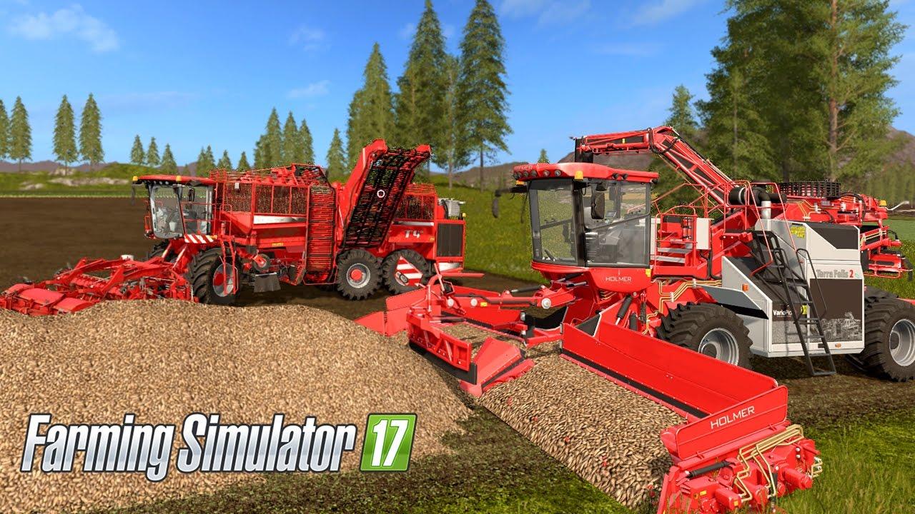 Farming Simulator 17 Beet Harvest Holmer Terra Dos T4 40 Felis 2 Eco Loader Youtube