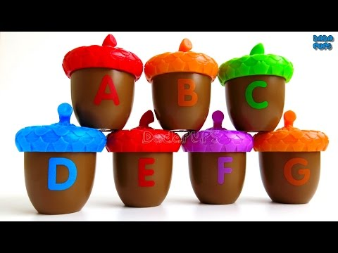 Alphabet with acorn|Learn ABC and colors with acorns|Words that start with the letter A-Z|ABCD