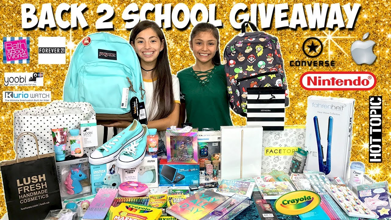 Back to School Giveaway 2017-2018 iPad Sephora Lush Nintendo - YouTube