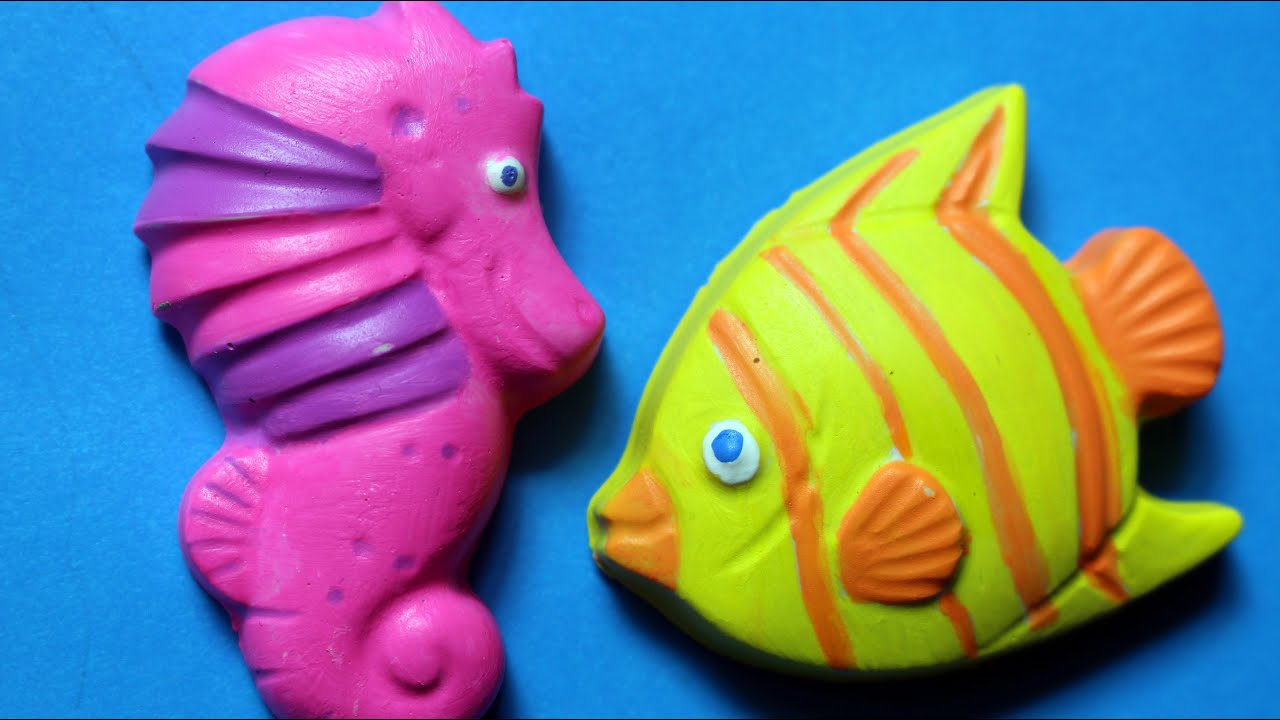 Sea Life Plaque Plaster Kids Craft Painting Set