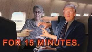 WATCH DONALD TRUMP PUT HIS HAND UP JESSICA LEEDS SKIRT IN FLIGHT.