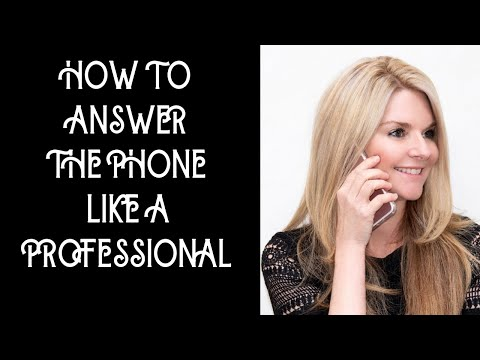 How To Answer The Phone At Work; Telephone Skills In The Office