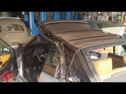 Peugeot 306 επισκευη κουκούλα cabrio repair cabriolet roof