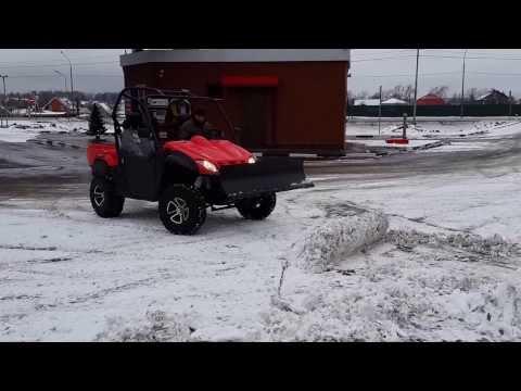 Мотовездеход Stels UTV 800 Dominator уборка снега Stelsland.ru
