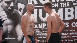 NATHON SMITH v DANNY LITTLE - OFFICIAL WEIGH IN VIDEO (FROM HULL) / RUMBLE ON THE HUMBER