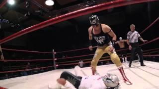 Super Astro Jr., Emperador Azteca y Astro vs Hip Hop Man, Balak y Novasonic   IWRG   07/02/16