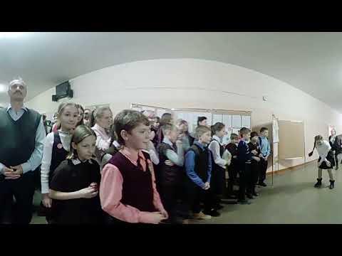 (Видео 360) Предновогодние мероприятия МОУ СОШ 1 г. Гусева 29.12.2017 (2)