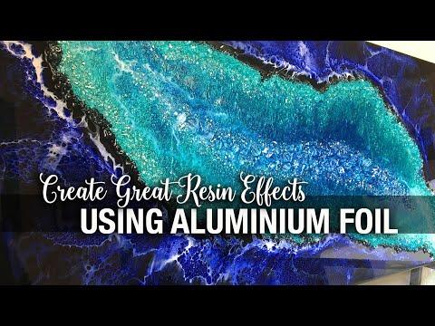 Create Great Resin Effects using Aluminium Foil
