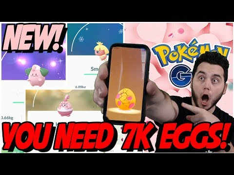 5 NEW SHINY POKEMON! YOU NEED 7K EGGS! VALENTINES DAY EVENT in POKEMON GO! thumbnail