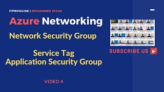 Azure Networking | How to use Application Security Group & Service TAG | Network Security Group |V-4