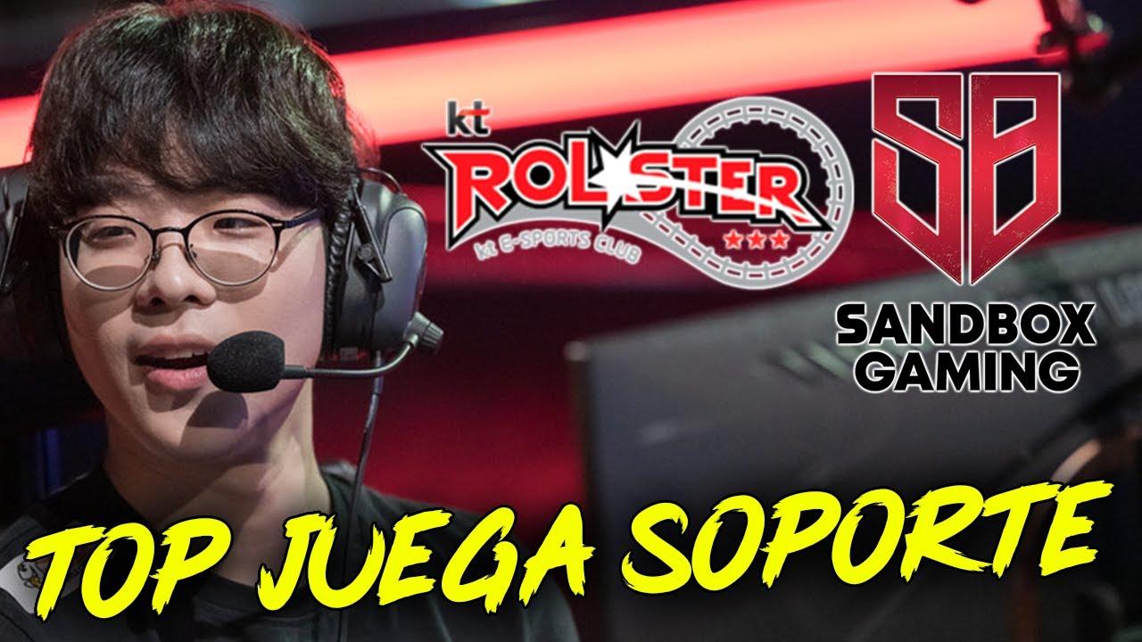 EL TOP TIENE QUE IR SOPORTE PARA SALVAR EL EQUIPO || KT VS SANDBOX || SMEB EL LEGENDARIO TOP KR!