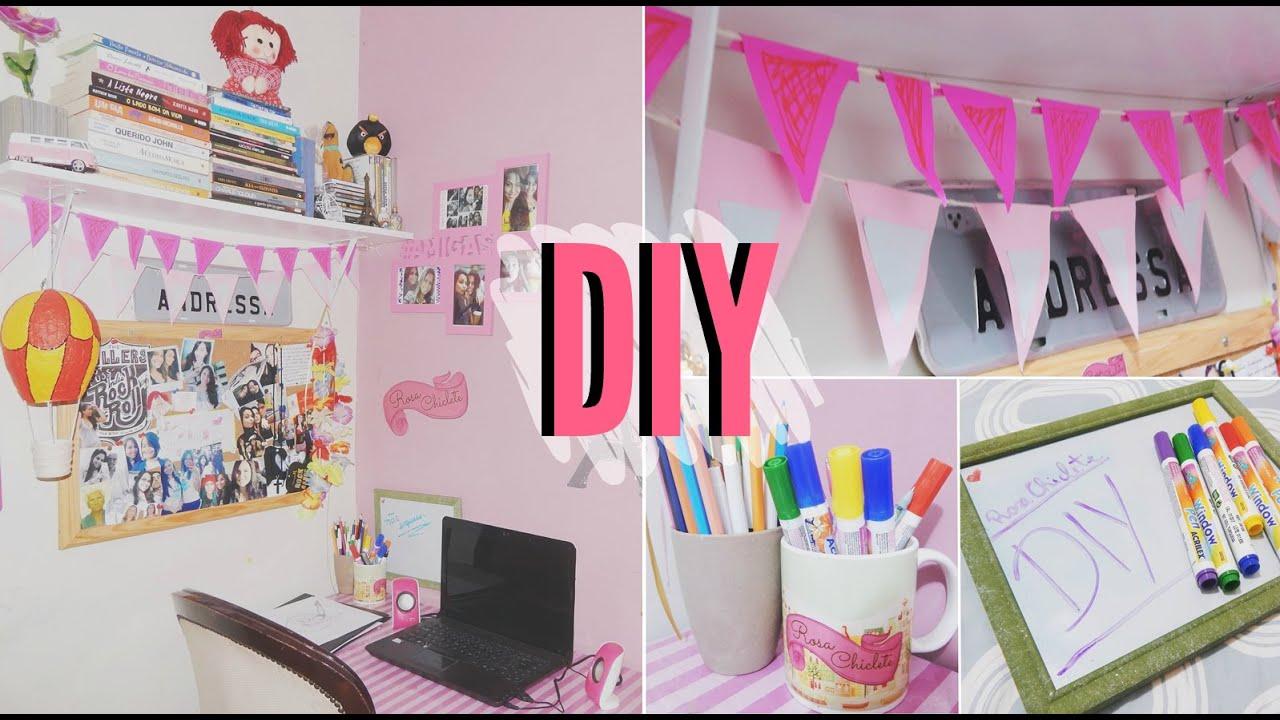 Diy Organize E Decore Seu Home Office Decor Ideas Youtube