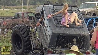 Mudding , Mud Bogging , Mud Trucks - Adriana' Cell phone- Behind the scenes footage