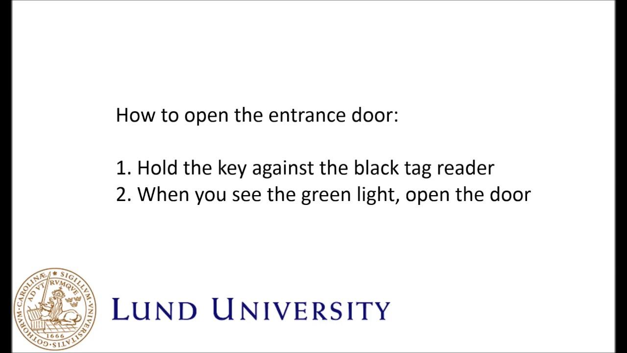 LU Accommodation - Salto key instructions
