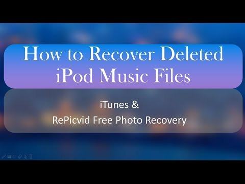 How to Recover Deleted iPod Music Files