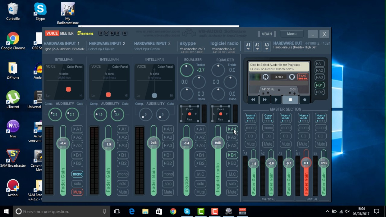 Table de mixage studio virtuel - Table de mixage virtuel gratuit en francais ...