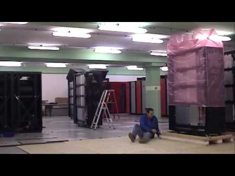 """Assembling of Cray XT5 """"Monte Rosa"""" at CSCS (10 minutes movie)"""