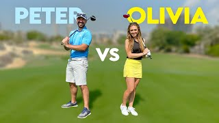 PGA PRO vs PGA PRO | Peter Finch and Olivia Cooke | Course Vlog